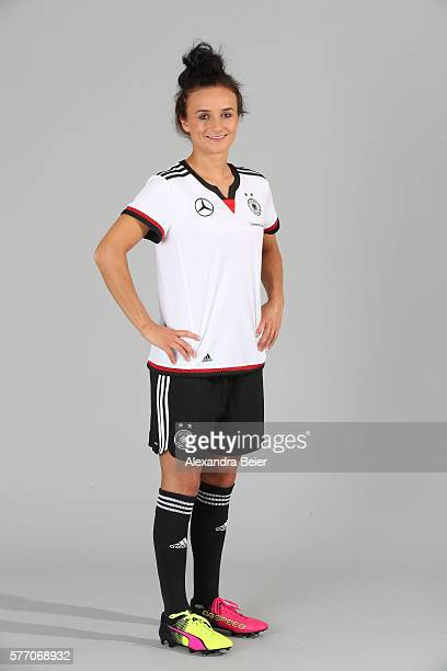 Lina Magull of the German women's national football team poses during the team presentation on June 21 2016 in Grassau Germany