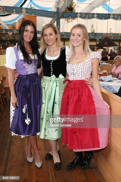 Lina Meyer girlfriend of FC Bayern soccer player Josua Kimmich Katharina Lukas Dirndl fashion designer of Schatzi Dirndl and Elena Rudy wife of FC...