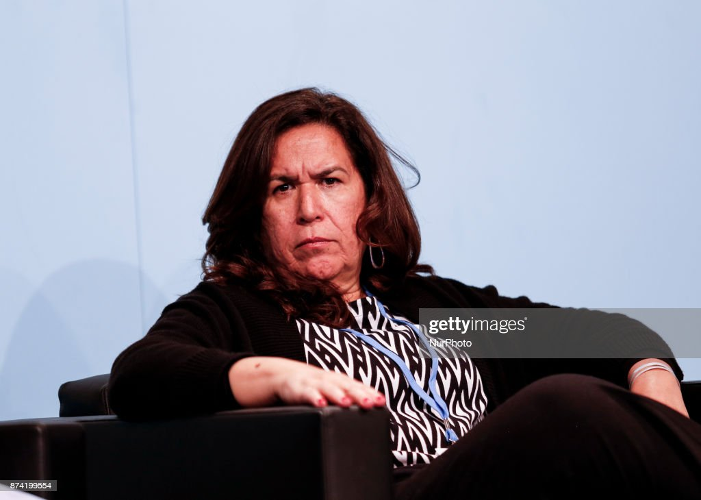 Lina Pohl, Minister of Environment and Natural Resources of El Salvador at the Marrakesh Partnership panel at the COP23 Fiji conference in Bonn, Germany on the 14th of November 2017. COP23 is organized by UN Framework Convention for Climate Change.