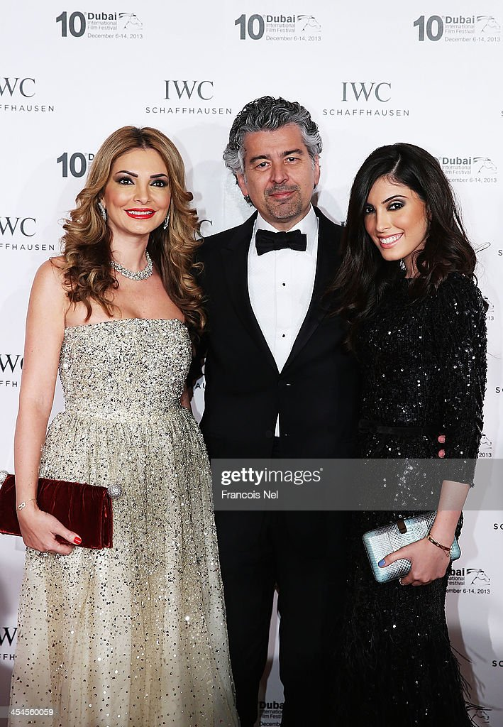 Lina Samman, Bassam Samman and Tala Samman attend the IWC Schaffhausen For The Love Of Cinema IWC Filmmakers Award 2013 at One And Only Royal Mirage on December 7, 2013 in Dubai, United Arab Emirates.