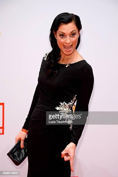 Lina van de Mars attend 'Goldenes Lenkrad' Award 2014 at Axel Springer Haus on November 11 2014 in Berlin Germany