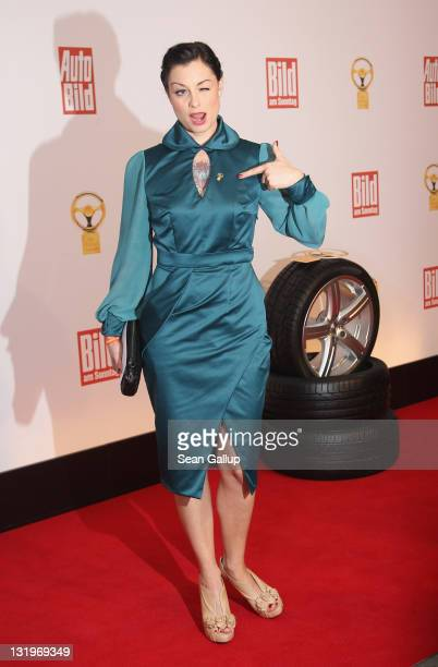 Lina van de Mars attends 'Das Goldene Lenkrad 2011' Awards at AxelSpringer Haus on November 9 2011 in Berlin Germany