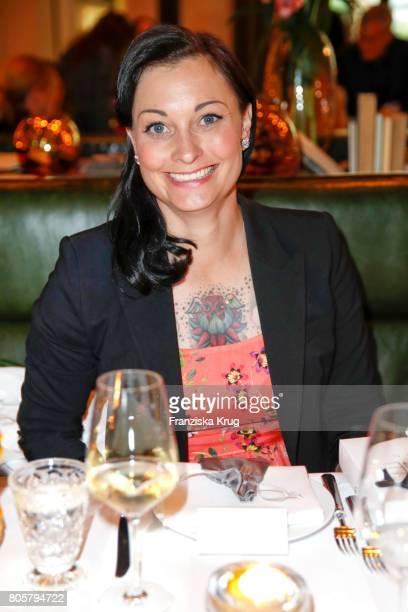 Lina van de Mars attends the Annabelle Mandeng Hosts Ladies Dinner In Berlin on July 2 2017 in Berlin Germany