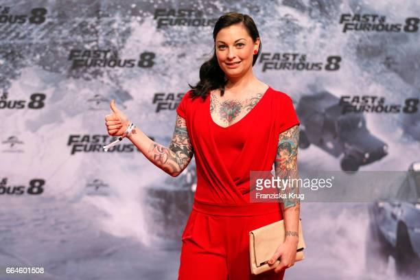Lina van de Mars attends the Fast Furious 8 Berlin Premiere at Sony Centre on April 4 2017 in Berlin Germany