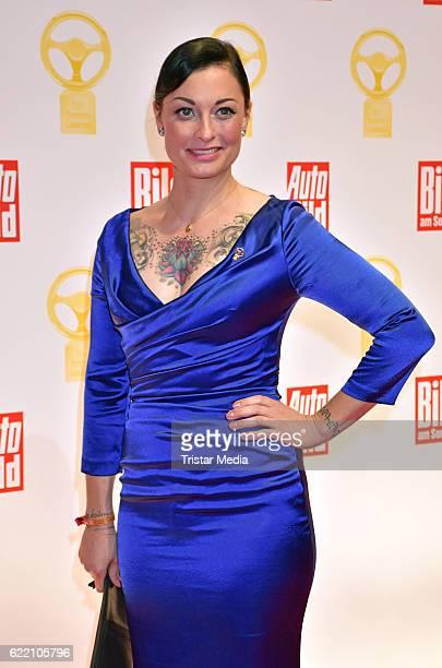 Lina van de Mars attends the 'Goldenes Lenkrad' Award at Axel Springer Haus on November 8 2016 in Berlin Germany