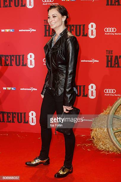 Lina van de Mars attends the premiere of 'The Hateful 8' at Zoo Palast on January 26 2016 in Berlin Germany