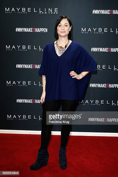 Lina van de Mars attends the 'The Power Of Colors MAYBELLINE New York MakeUp Runway' show during the MercedesBenz Fashion Week Berlin Autumn/Winter...