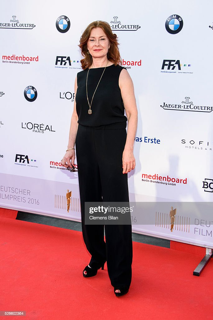 Lina Wendel attends the nominee dinner for the German Film Award 2015 Lola (Deutscher Filmpreis) on April 30, 2016 in Berlin, Germany.