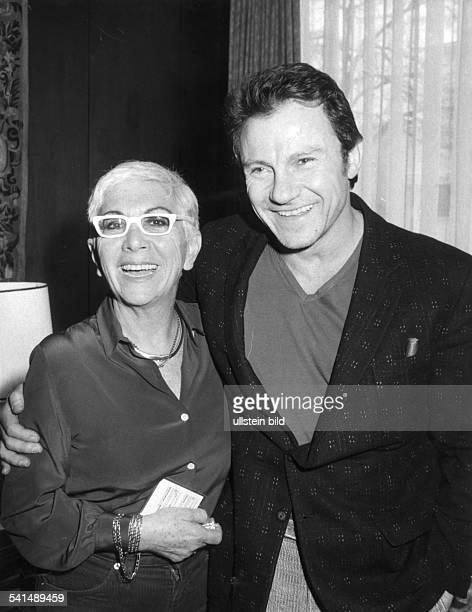 Lina Wertmueller *Regisseurin Drehbuchautorin Italieneigentlich Arcangela Felice Assuntamit dem amerikanischen Schauspieler Harvey Keitel 1986