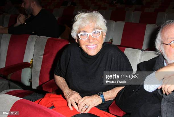 Lina Wertmuller attends 'Il Vizietto La Cage aux Folles' Opening Night at Teatro Sistina on November 29 2011 in Rome Italy