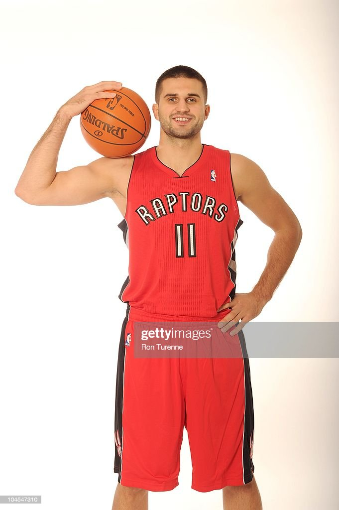 Linas Kleiza of the Toronto Raptors poses for a photo during Media Day on September 27 2010 at the adidas Practice Court in Toronto Canada NOTE TO...