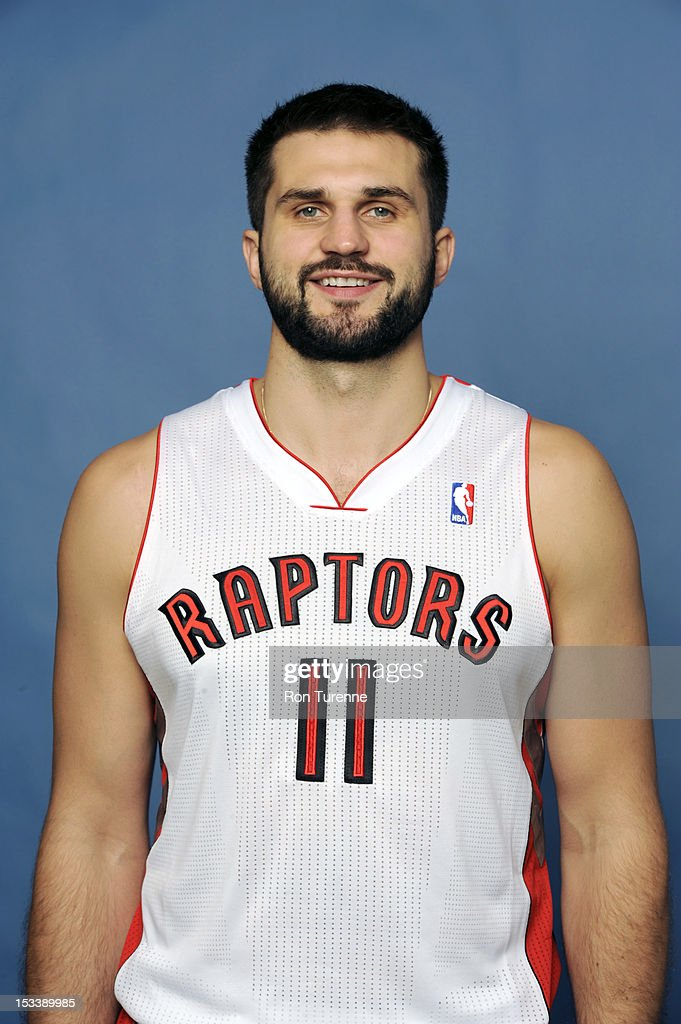 Linas Kleiza #11 of the Toronto Raptors poses for a portrait during a Media Day on October 1, 2012 in Toronto, Canada.