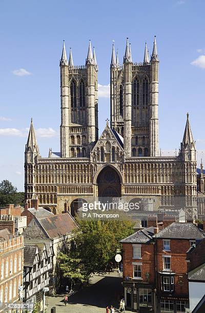 Lincoln Cathedral and Square, Lincoln, Lincolnshire, England