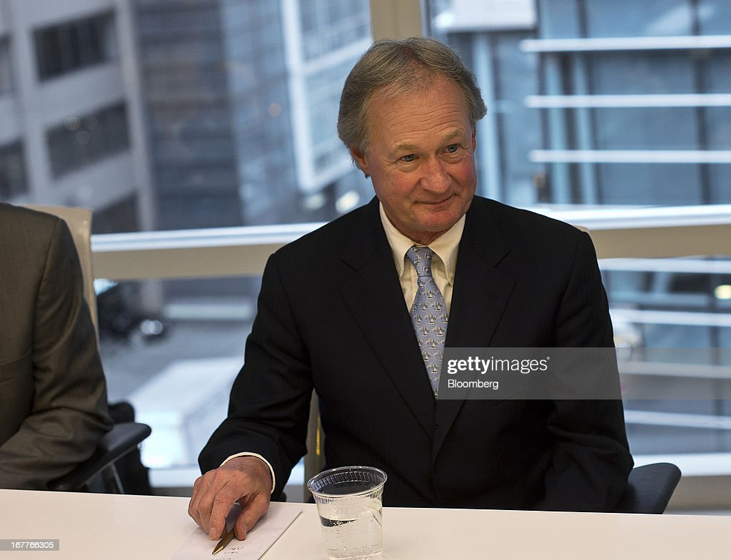 Lincoln Chafee, governor of Rhode Island, listens during an interview in New York, U.S., on Monday, April 29, 2013. Chafee said he will sign a bill legalizing same sex-marriage as soon as this week, providing an economic boost to the state and a resolution of an issue whose 'time had come.' Photographer: Victor J. Blue/Bloomberg via Getty Images