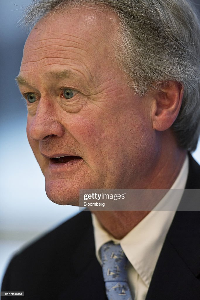 Lincoln Chafee, governor of Rhode Island, speaks during an interview in New York, U.S., on Monday, April 29, 2013. Chafee said he will sign a bill legalizing same sex-marriage as soon as this week, providing an economic boost to the state and a resolution of an issue whose 'time had come.' Photographer: Victor J. Blue/Bloomberg via Getty Images
