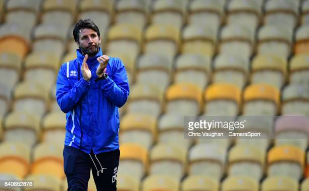 Lincoln City manager Danny Cowley during the EFL Checkatrade Trophy Northern Section Group G match between Mansfield Town and Lincoln City at One...