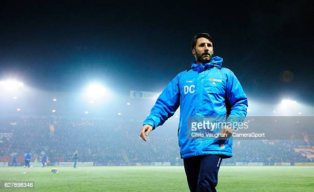Lincoln City manager Danny Cowley during the prematch warmup before the Emirates FA Cup Second Round match between Lincoln City and Oldham Athletic...