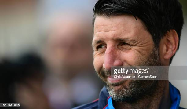 Lincoln City manager Danny Cowley during the prematch warmup prior to the Vanarama National League match between Southport and Lincoln City at...