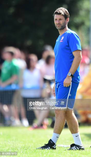 Lincoln City manager Danny Cowley during the preseason friendly match between Lincoln United and Lincoln City at Sun Hat Villas Stadium on July 8...