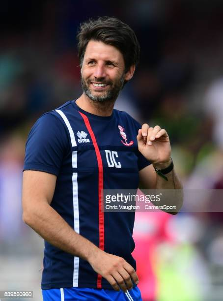 Lincoln City manager Danny Cowley during the Sky Bet League Two match between Lincoln City and Carlisle United at Sincil Bank Stadium on August 26...
