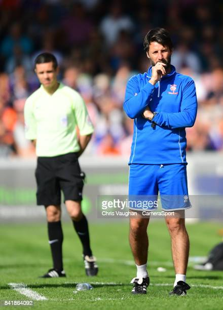 Lincoln City manager Danny Cowley during the Sky Bet League Two match between Lincoln City and Luton Town at Sincil Bank Stadium on September 2 2017...