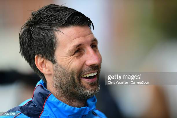 Lincoln City manager Danny Cowley during the Vanarama National League match between Southport and Lincoln City at Merseyrail Community Stadium on...