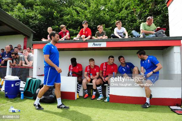 Lincoln City manager Danny Cowley left prior to the preseason friendly match between Lincoln United and Lincoln City at Sun Hat Villas Stadium on...