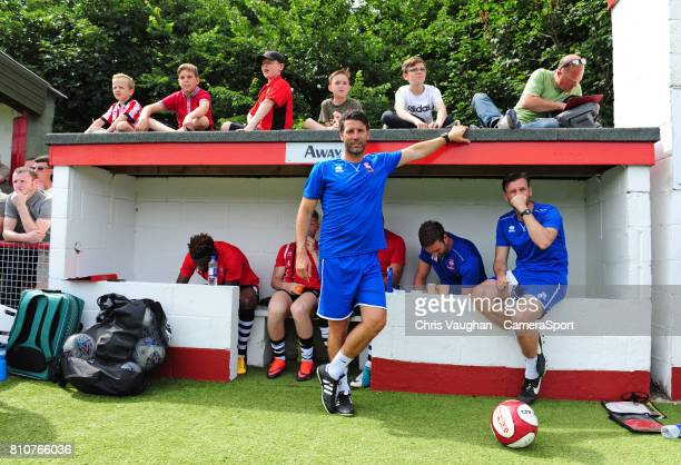 Lincoln City manager Danny Cowley prior to the preseason friendly match between Lincoln United and Lincoln City at Sun Hat Villas Stadium on July 8...