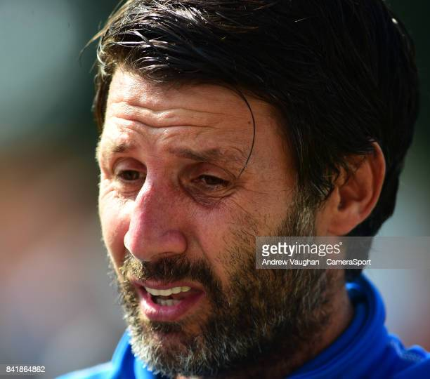 Lincoln City manager Danny Cowley prior to the Sky Bet League Two match between Lincoln City and Luton Town at Sincil Bank Stadium on September 2...