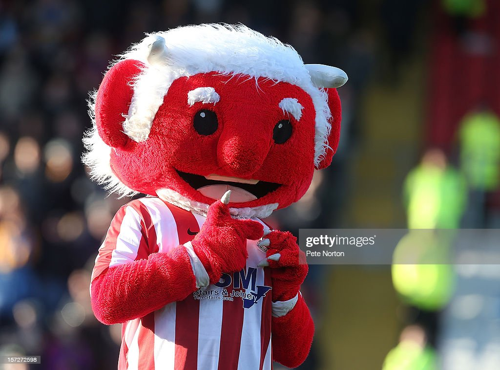 Lincoln City mascot The Red Imp entertains the crowd prior to the FA Cup with Budweiser Second Round match at Sincil Bank Stadium on December 1, 2012 in Lincoln, England.