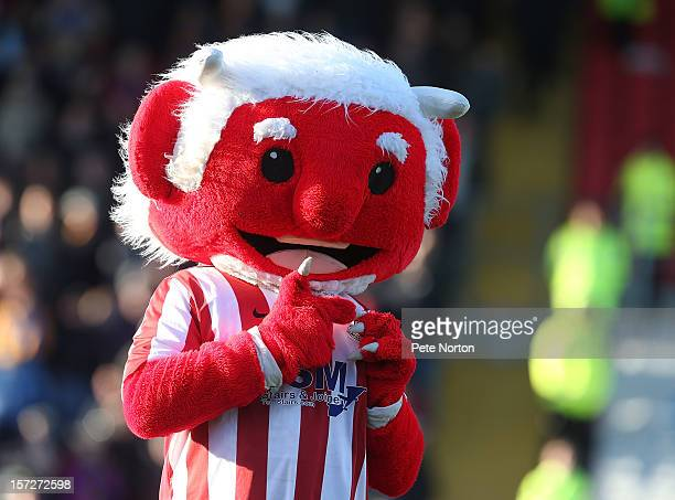 Lincoln City mascot The Red Imp entertains the crowd prior to the FA Cup with Budweiser Second Round match at Sincil Bank Stadium on December 1 2012...