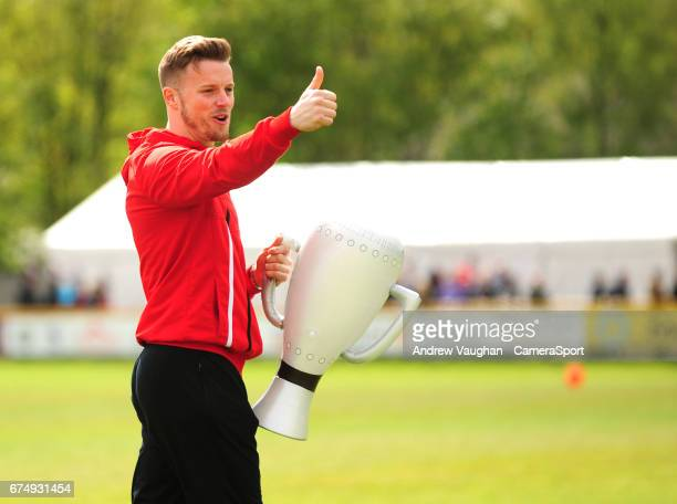 Lincoln City's Paul Farman applauds fans at the end of the Vanarama National League match between Southport and Lincoln City at Merseyrail Community...