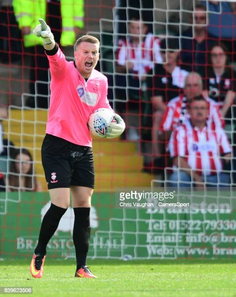 Lincoln City's Paul Farman during the Sky Bet League Two match between Lincoln City and Carlisle United at Sincil Bank Stadium on August 26 2017 in...