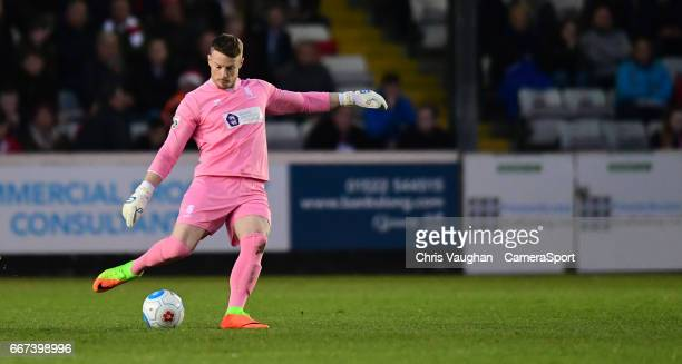 Lincoln City's Paul Farman during the Vanarama National League match between Lincoln City and Chester at Sincil Bank Stadium on April 11 2017 in...