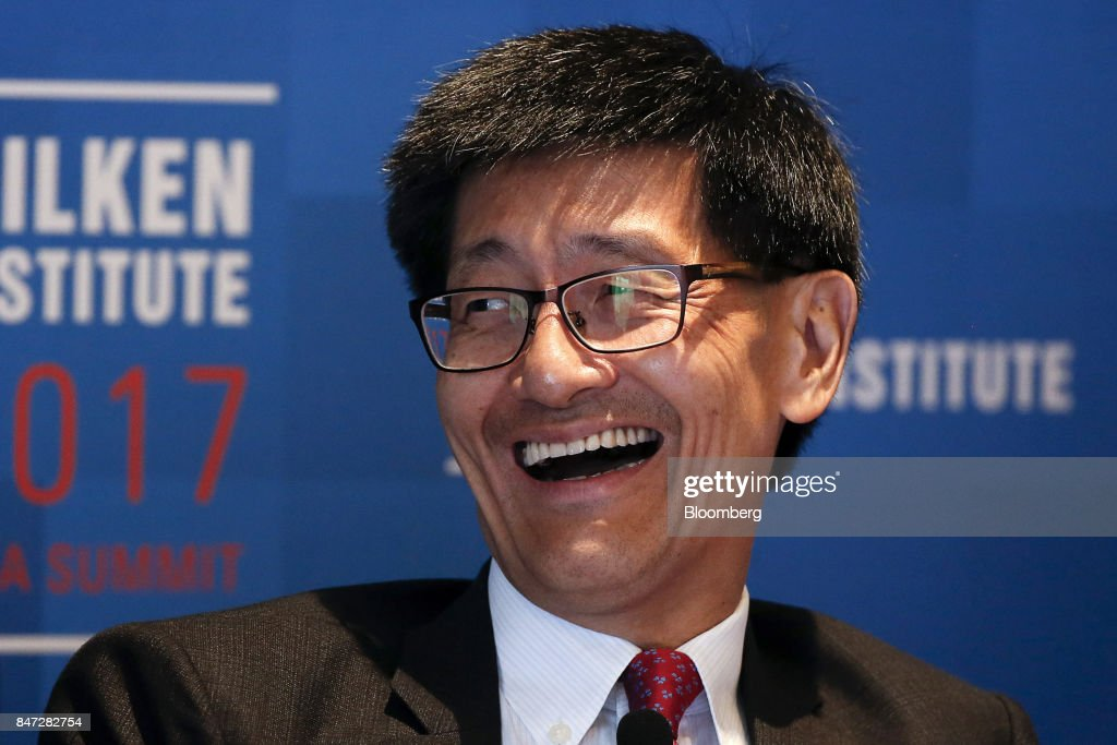Lincoln Leong, chief executive officer of MTR Corp., reacts at the Milken Institute Asia Summit in Singapore, on Friday, Sept. 15, 2017. The conference concludes today. Photographer: Vivek Prakash/Bloomberg via Getty Images