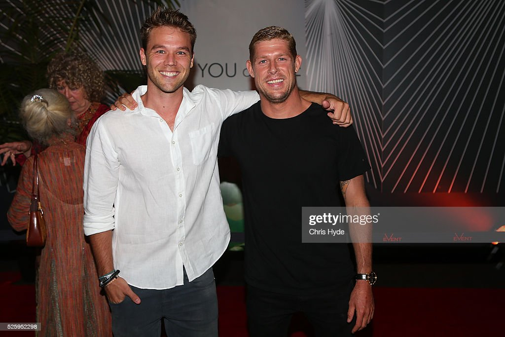 <a gi-track='captionPersonalityLinkClicked' href=/galleries/search?phrase=Lincoln+Lewis&family=editorial&specificpeople=4356721 ng-click='$event.stopPropagation()'>Lincoln Lewis</a> and <a gi-track='captionPersonalityLinkClicked' href=/galleries/search?phrase=Mick+Fanning&family=editorial&specificpeople=553784 ng-click='$event.stopPropagation()'>Mick Fanning</a> arrive ahead of Gold Coast premiere of 'YOU and ME' at Event Cinemas Pacific Fair on April 29, 2016 in Gold Coast, Australia.
