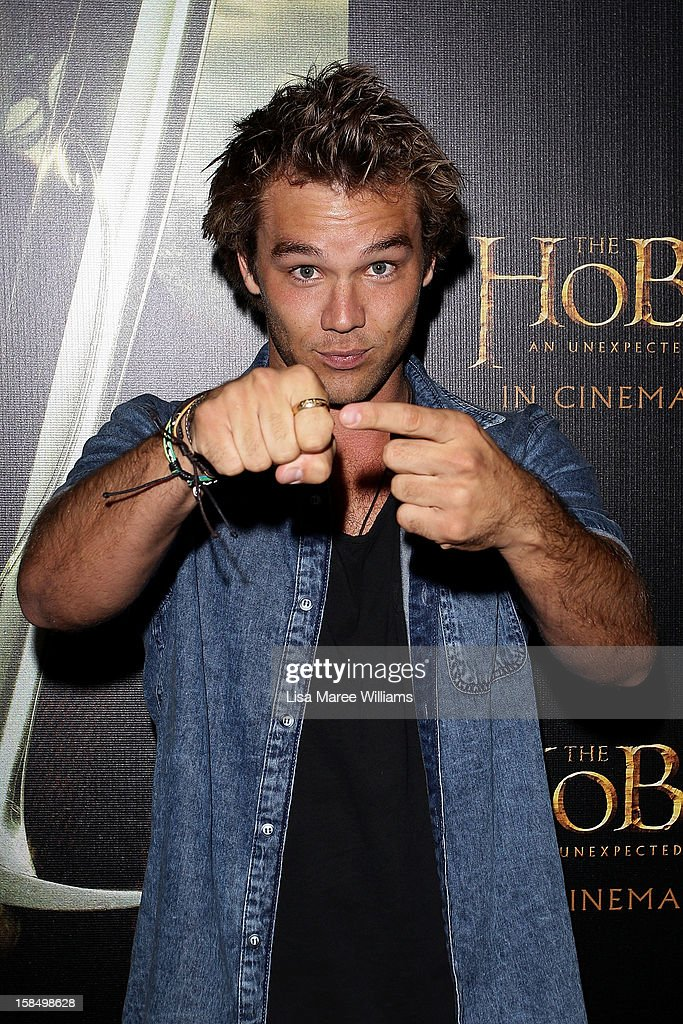 Lincoln Lewis attends the Sydney premiere of 'The Hobbit: An Unexpected Journey' at George Street V-Max Cinemas on December 18, 2012 in Sydney, Australia.
