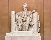Statue of AbrahamLincoln in Memorial in Washington