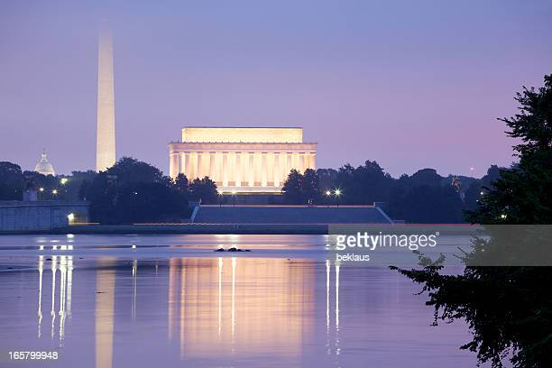 Lincoln Memorial, el monumento a Washington, el Capitolio de los Estados Unidos