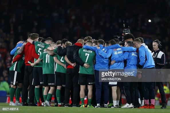 Image result for lincoln city fc arsenal huddle