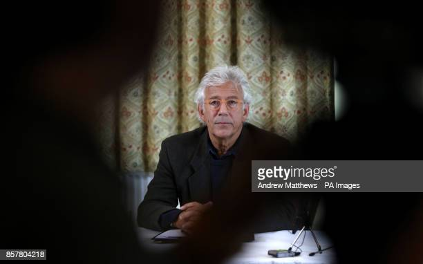 Lincoln Seligman godson of Sir Edward Heath at a press conference at Wrag Barn Golf amp Country Club in Wiltshire