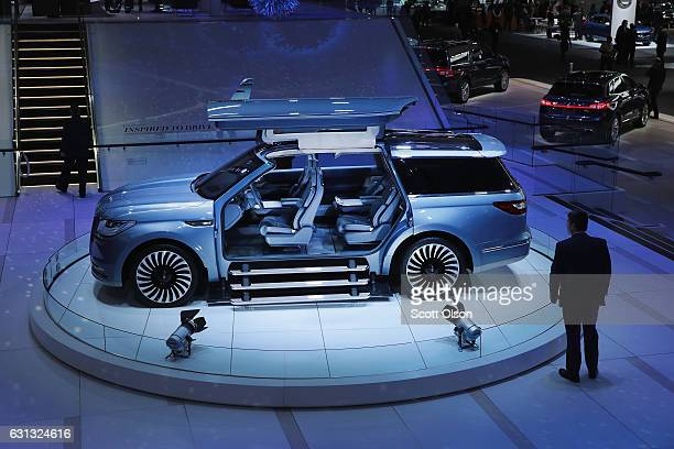 Lincoln shows off the Navigator concept at the North American International Auto Show on January 9 2017 in Detroit Michigan The show is open to the...