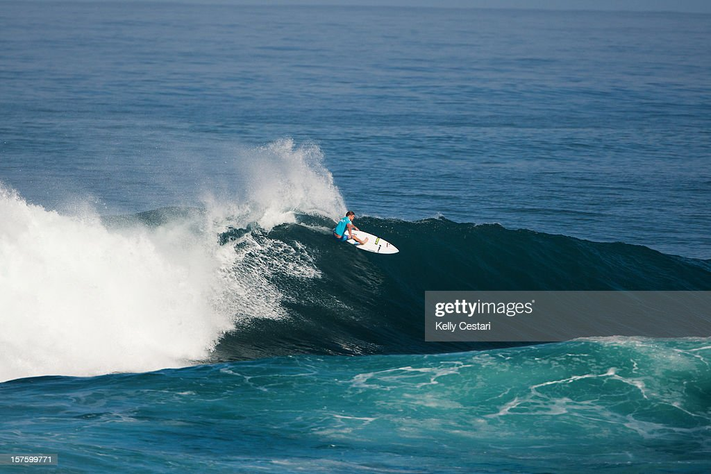 Lincoln Taylor of Australia surfs in the Vans World Cup of Surfing at Sunset Beach on December 4, 2012 in North Shore, Hawaii. Taylor placed equal 5th.