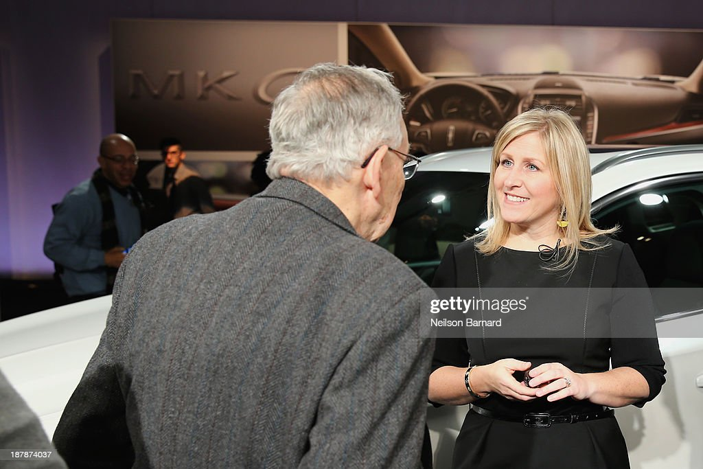 Lincoln Vehicles Chief Engineer Lisa Drake speaks at the reveal event for the all-new 2015 Lincoln MKC on November 13, 2013 in New York City.