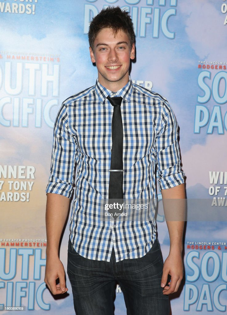 Lincoln Younes arrives at Opera Australia's 'South Pacific' opening night at the Sydney Opera House on September 12, 2013 in Sydney, Australia.