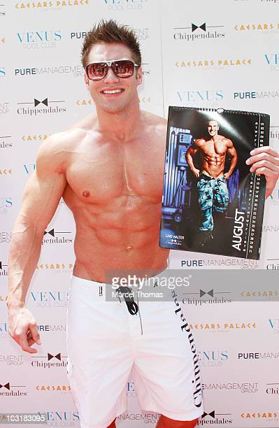 Lind Walter attends the debut of the Chippendales 2010/2011 calendar at Venus Pool Club on July 31 2010 in Las Vegas Nevada