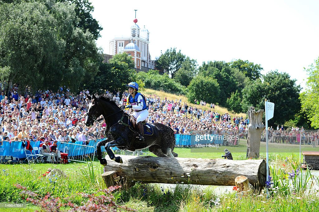 Linda Algotsson of Sweden riding La Fair negotiates a jump in the Eventing Cross Country Equestrian event on Day 3 of the London 2012 Olympic Games at Greenwich Park on July 30, 2012 in London, England.