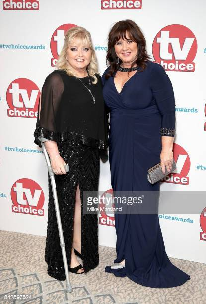 Linda and Coleen Nolan arrive for the TV Choice Awards at The Dorchester on September 4 2017 in London England