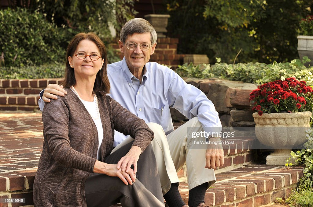 Linda and Jim Hobbins sit outside of their home in Potomac Maryland on August 29 2012