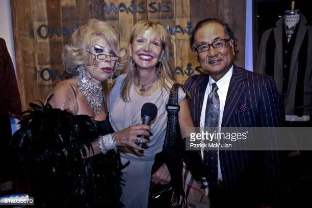 Linda Axelrod Flora Asano and Nobu Asano attend ONASSIS Flagship Soho Store Launch at 71 Greene Street on September 16 2010 in New York City